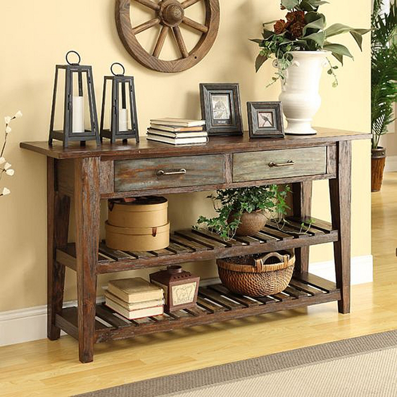 Long Console Table Behind Couch